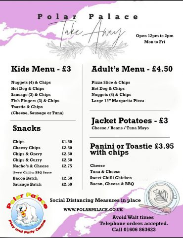 Hot Food Takeaway Menu